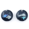 Lamp Bead Coin Large 2Pc 25.5x2.5mm Black Cat